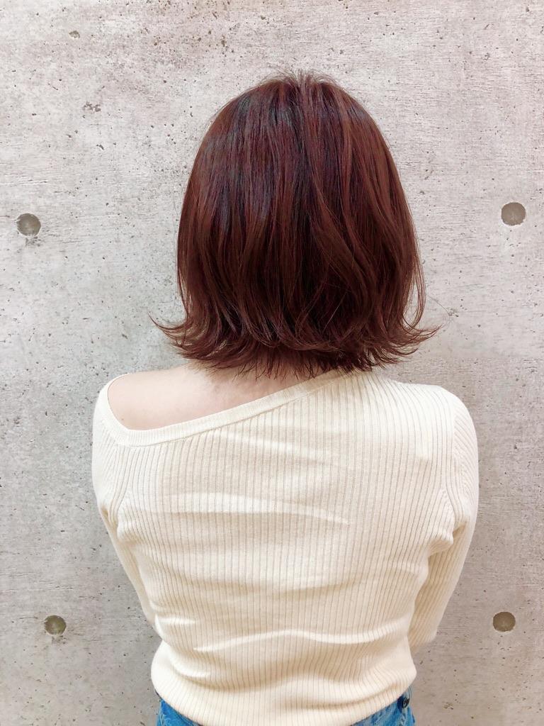 赤髪とフレアボブ