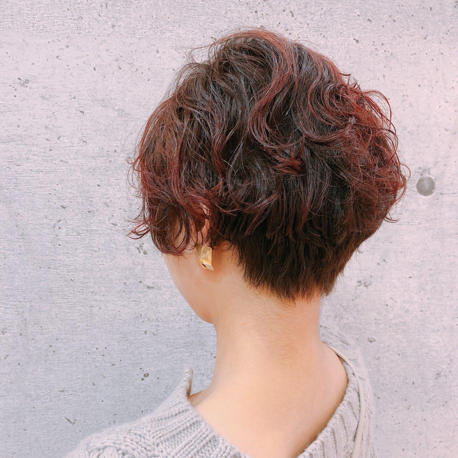 赤髪✖️パーマ